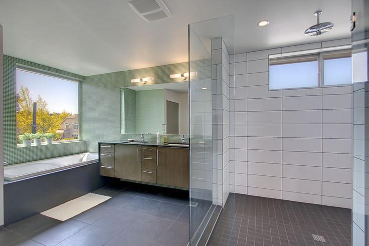 large white subway tile dark grout bathrooms pinterest. Black Bedroom Furniture Sets. Home Design Ideas