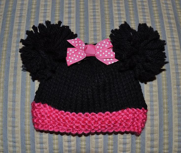 Knitting Pattern Mouse Hat : Free Minnie Mouse Knit Hat Patterns Joy Studio Design Gallery - Best Design