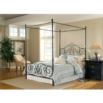 wrought iron canopy bed where the heart is pinterest