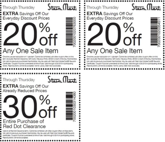 Stein mart coupons july 2018
