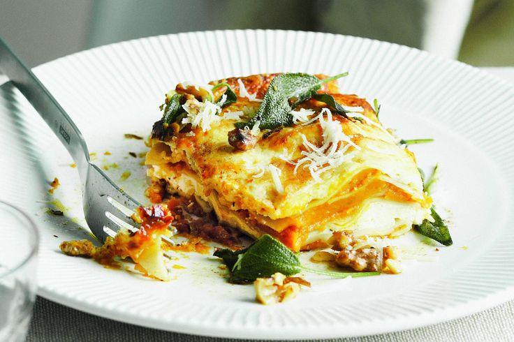 Pumpkin sage lasagna | Foods to make | Pinterest