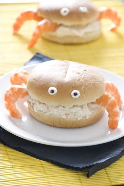 Cute Crab Meat Sandwich! | Recipes to Try | Pinterest