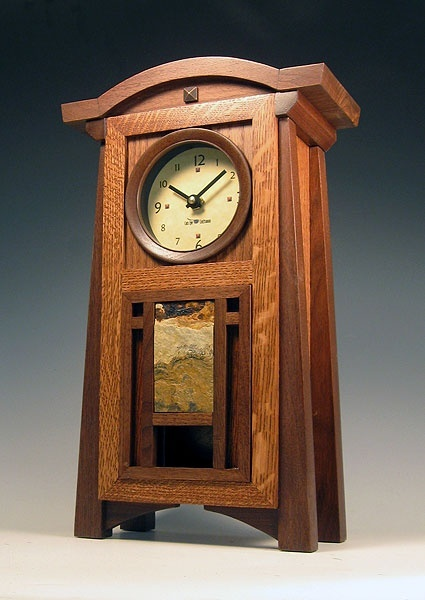 Arts crafts clock arts crafts clocks pinterest for Arts and crafts clocks for sale