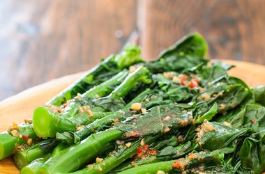Chinese Broccoli with Garlicy Ginger Miso — Punchfork