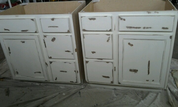 chalk paint bathroom cabinets diy