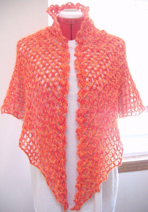 Double Crochet Triangle Shawl Pattern : Ravelry: T-shell pattern by Siew Clark crochet shawls ...