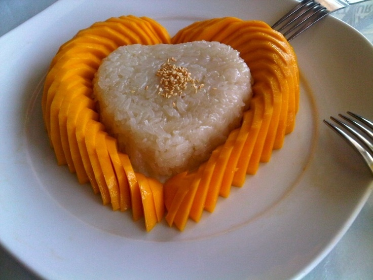 Coconut Sticky Rice with Mango! | food obsession | Pinterest