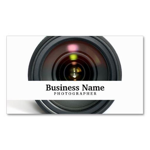 grapher Camera Lens Business Cards