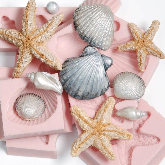 seashell fondant mold