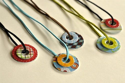 Mod Podge washer necklaces