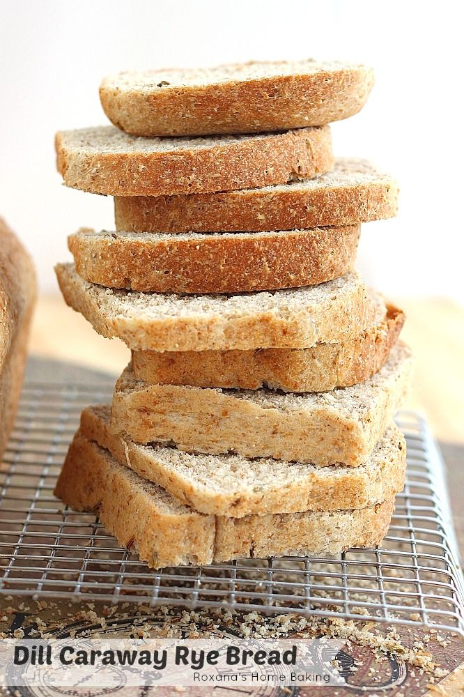 ... caraway and dill seeds, this egg free rye bread is just what you need