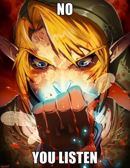 Navi, you listen! Link - legend of Zelda