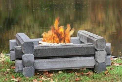 Cement Lincoln Logs Landcape Design Pinterest