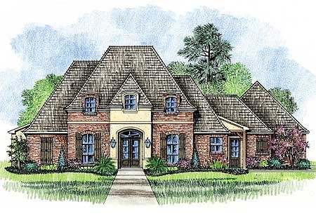 Beautiful louisiana french country home for Louisiana french country house plans