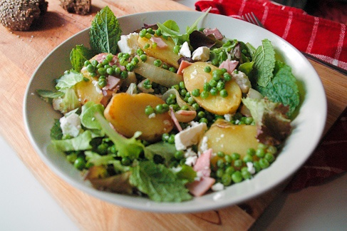 Potato, pea and mint salad with feta   My wanting-to-cookbook   Pinte ...