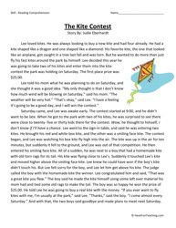 The Kite Contest Third Grade Reading Comprehension Worksheet