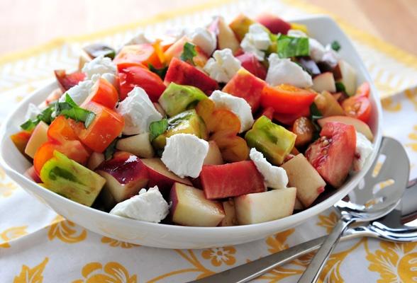 Peach and Heirloom Tomato Salad | Salads | Pinterest