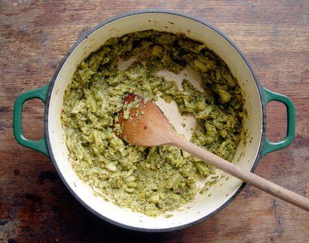 Creamy Buttered Leeks With Farro And Burrata Recipes — Dishmaps
