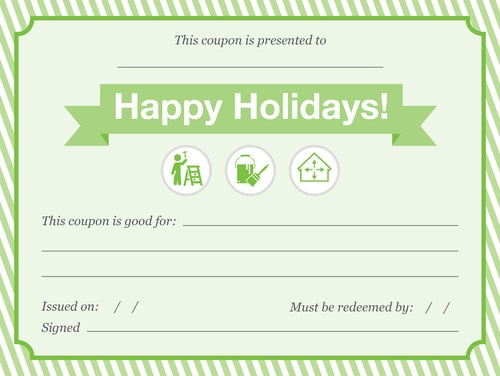 Holiday Chore Coupon Christmas Pinterest