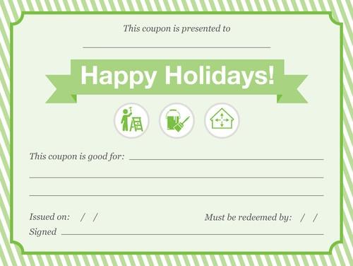 Holiday Chore Coupon Christmas Pinterest