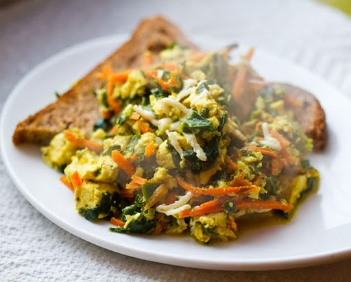 Silken tofu scramble | Vegan Recipes : Meatless Monday | Pinterest