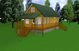 16x30 cabin w/ loft. | Cabin | Pinterest