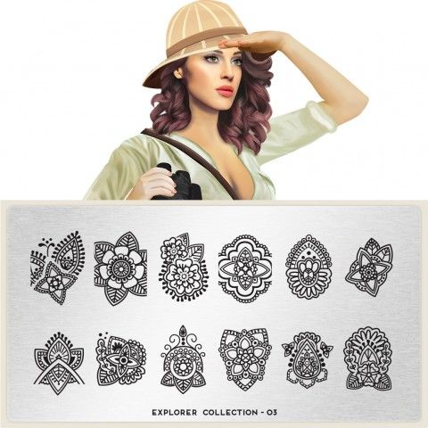 Explorer Plate Collection 03  moyou.co.uk | info@moyoumarketing.com #moyoulondon #NOTD #nailart #london #beauty #pinup #explorer #history #archeology #arqueologia #culture #henna