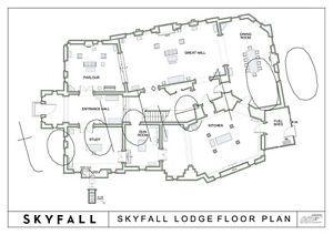 Skyfall House James bond blueprints skyfall