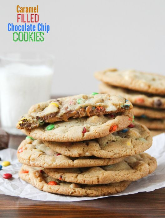 Caramel Filled Chocolate Chip Cookies -- our absolute favorite cookie ...