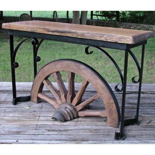 wagon wheel table gardening