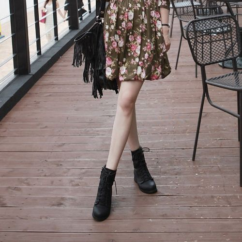 combat boots and dresses wear