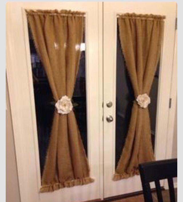 DIY burlap curtains   For the Home   Pinterest