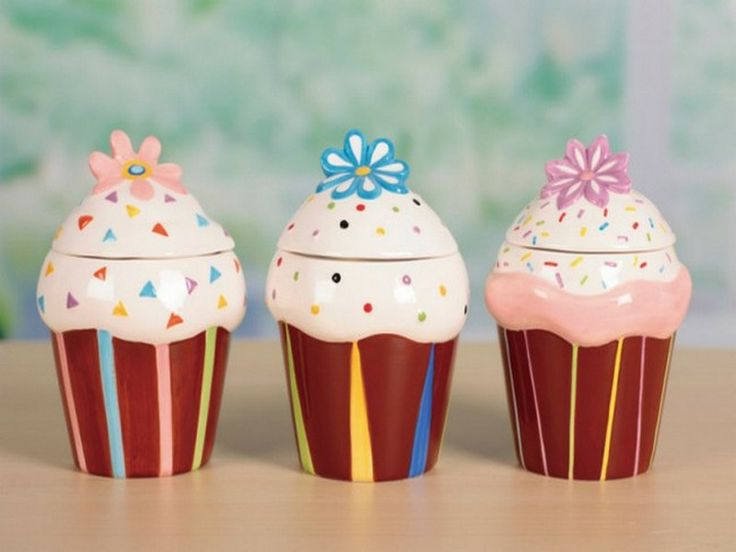 Cupcake Kitchen Canisters Decor My Kitchen Pinterest