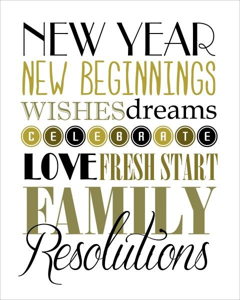 FREE New Year's printables (different colors to choose from)!