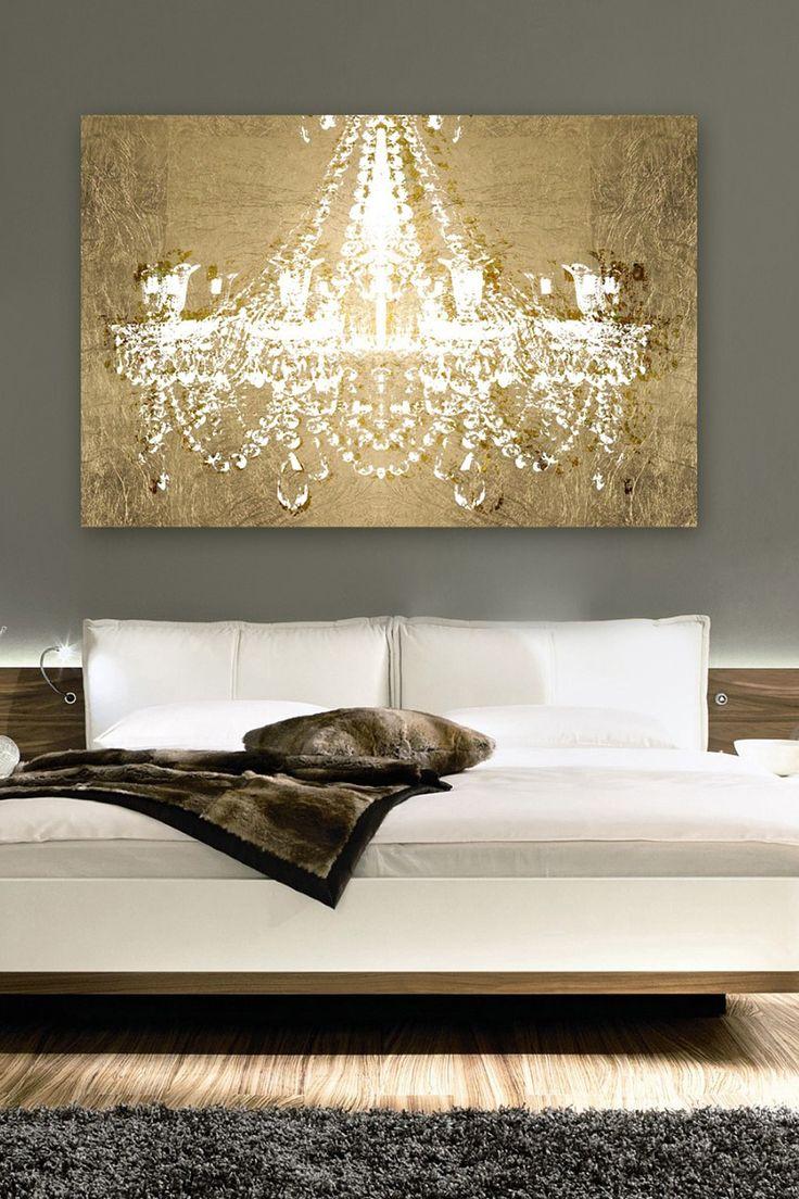 Gold chandelier canvas art Home