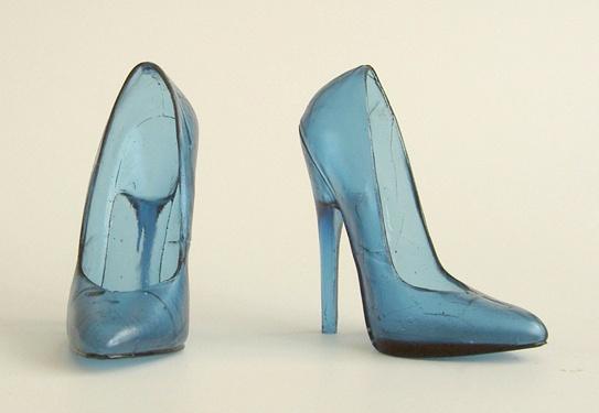Asa Jungnelius kiln-cast glass shoes...yum
