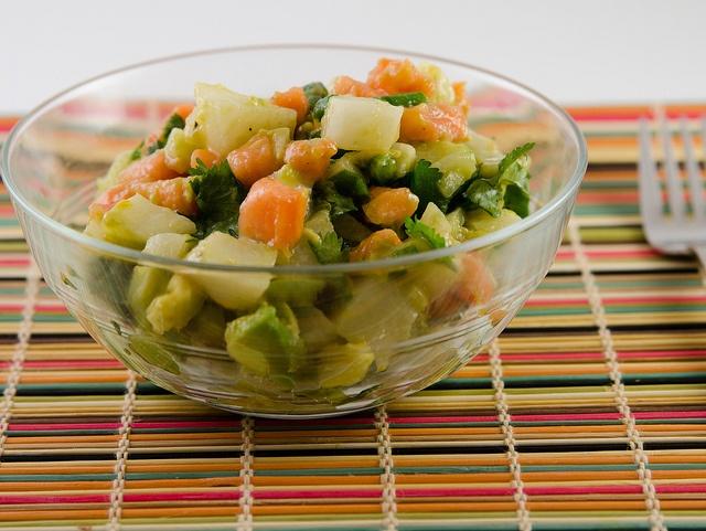 Jicama Papaya Avocado Salad | My Meals | Pinterest