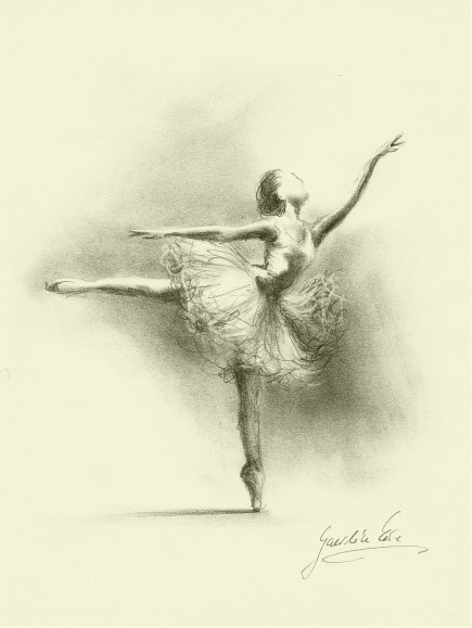 ballerina pencil drawing - photo #21