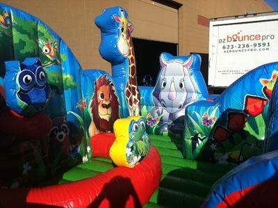 Animal themed bounce house Kids Party Ideas Pinterest