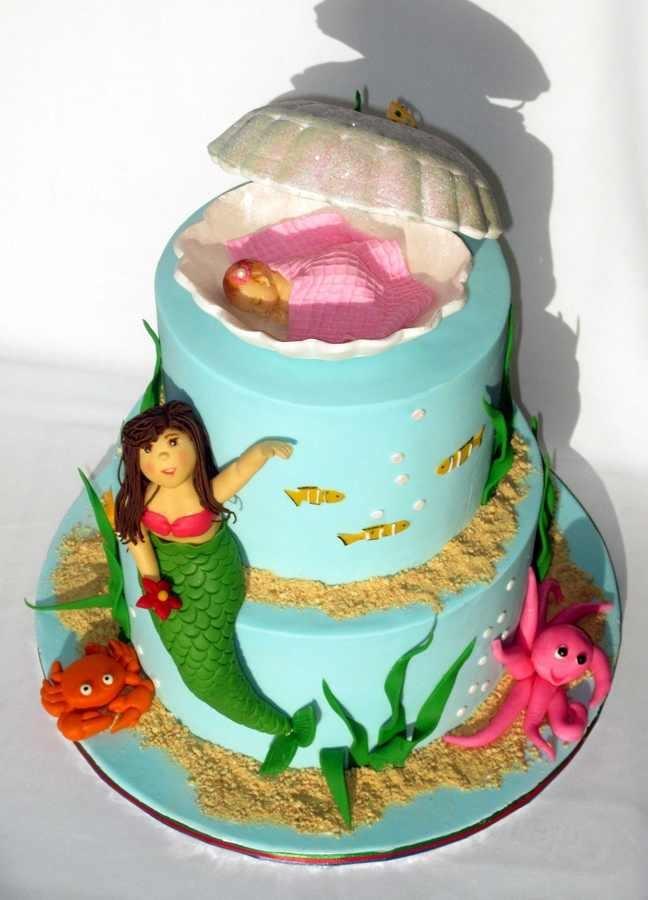 mermaid baby shower cake mia bella fortenberry pinterest