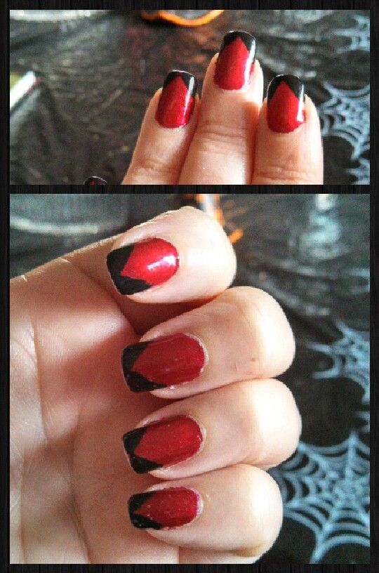 Red point | Nail Art Galore | Pinterest