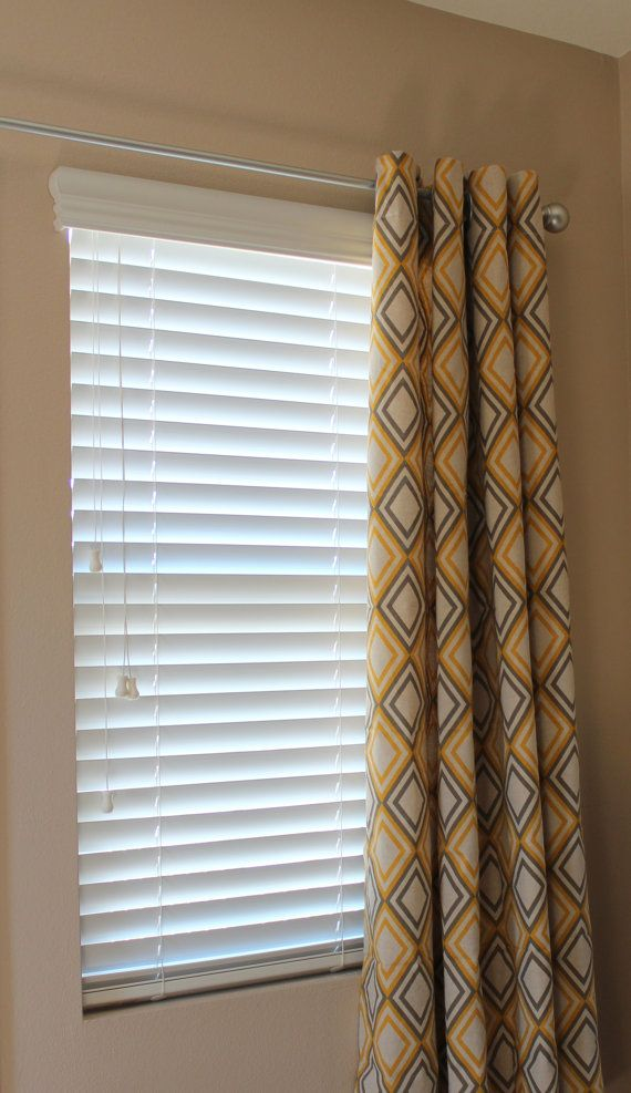 Yellow amp grey curtains window treatments pinterest