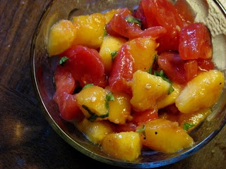 Peach, Tomato, and Basil Salad | Why am I not eating this?? | Pintere ...