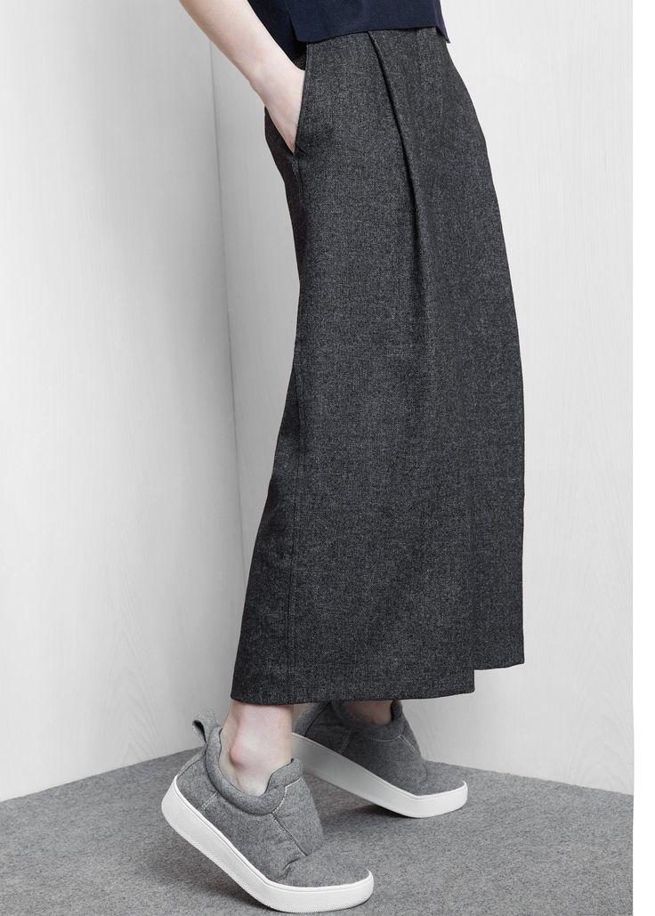 PREMIUM - Wool-blend culottes