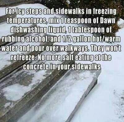 For frozen sidewalks and steps.