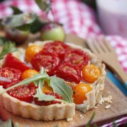 Gluten-Free Tomato and Goat Cheese Tart   Food: Snack/Dessert/Appetiz ...