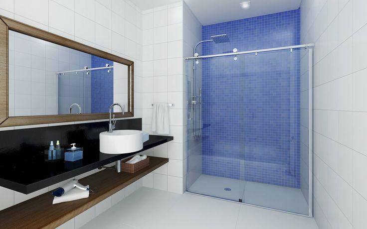 Mamparas Para Baños Glass:Mamparas de baño Espejos Baños #Baths #Banheiros #Vidrio #Vidro #