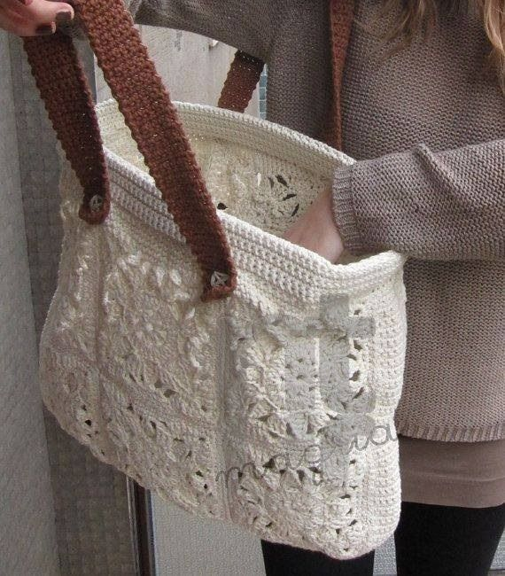 granny square crochet bag photo only Crochet Pinterest