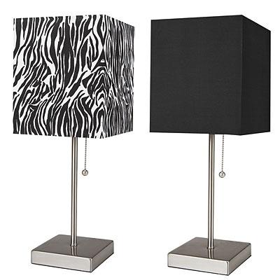 Stick lamps at big lots zebra print teen bedrooms pinterest