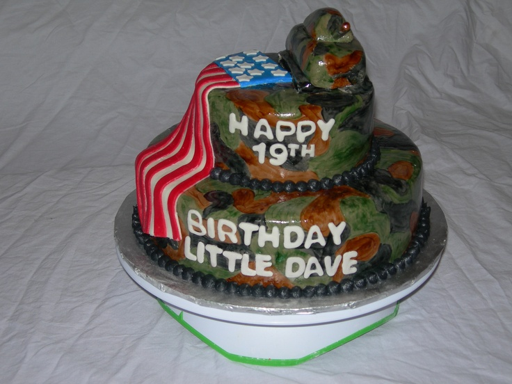 Army Theme Birthday cake  birthday party ideas!  Pinterest